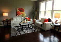 White furniture on hardwood floors looks incredible! Living Rooms, Living Room Decor, Hardwood Floors, Flooring, White Furniture, Staging, Phoenix, Real Estate, The Incredibles