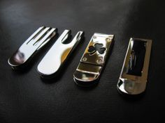 stainless steel money clips make fantastic man gifts.