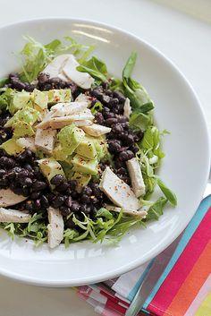 Chicken, Avocado and Black Beans by Salad Pride, via Flickr