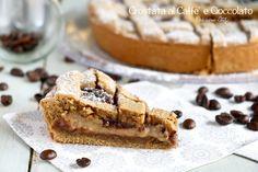 Oggi per la merenda prepariamo questa golosissima Crostata al Caffè e Cioccolato. Una vera delizia per il palato, un dolce facilissimo.