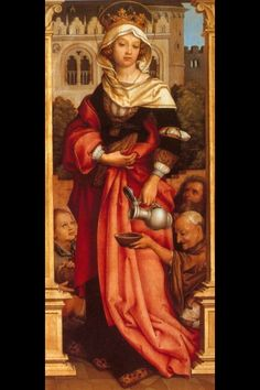 St Elizabeth of Hungary. My kind and beautiful patron saint!! :D I love her!