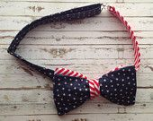 Stars and Stripes Mens Fully Adjustable Bowtie!!! Only $14.99!!!!  www.etsy.com/shop/modebows