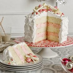 Layered Peppermint Cheesecake filling