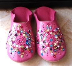 pink moroccan babouche slippers for my girls.