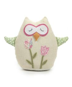 Take a look at this Pink Floral Owl Plush Toy by GANZ on #zulily today!