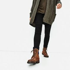 Image 6 of BROWN WORKER BOOTS from Zara