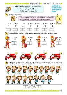 Clasa Pregătitoare : Matematică și explorarea mediului pentru clasa pregătitoare. Partea II Math Sheets, Kindergarten Math Activities, Thing 1, Math Worksheets, Kids Education, Coloring Pages, Parenting, Homeschooling, Children