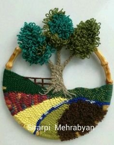 Crochet Wall Hanging Crochet landscape