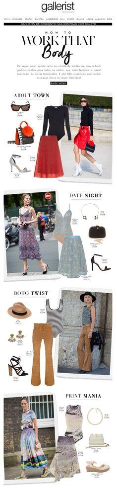 Gallerist Blog & Shop, newsletter, gallerist, fashion, tendências, como usar body, street style, layout