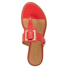 Amazon.com | Calvin Klein Ula Toscana Women US 6 Orange Sandals | Flats