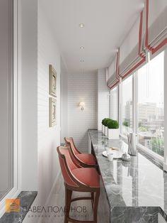 Фото: Интерьер лоджии - Интерьер квартиры в классическом стиле в ЖК «Времена года», 61 кв.м.