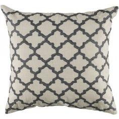 Gray Lattice Accent Pillow