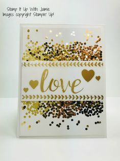 Stampin' Up! Gold Vinyl Stickers Valentines' Day Card – Stamp It Up with Jaimie