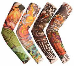Albabara Fake Tattoo UV Protection Arm Cooling Sleeves, Dark Series, Pack of 4 - - Amazon.com