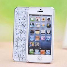 Sliding Bluetooth Wireless Keyboard Case Cover for Iphone4/4s/5 WANT THIS!