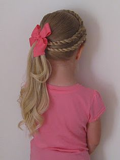 Bet Your Hair Wasn't This Cool In Kindergarten! Awesome Hair Styles For Little Girls – - Looking for Hair Extensions to refresh your hair look instantly? focus on offering premium quality remy clip in hair. Cute Little Girl Hairstyles, Pretty Hairstyles, Easy Hairstyles, Toddler Hairstyles, Natural Hairstyles, Style Hairstyle, Hairdos For Little Girls, Braided Hairstyles For Kids, Little Girl Ponytails