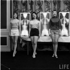 Contestants in the 1956 Chiropractor's Beauty Contest, 1956.