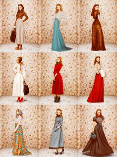 Ulyana Sergeenko lookbook fall/winter 2011/2012 via Andi B. Goode. Some of the lesser seen aspects of vintage clothing brought up to date.. looking, well, neither modern nor dated. Success!