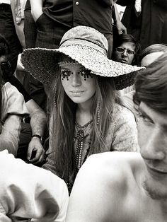 Girl at Rolling Stones concert, photographed by Frank Habicht, 1969
