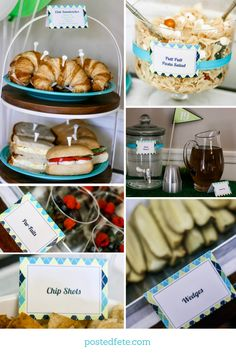 Golf Party Food Ideas | Club Sandwiches, Putt Putt Pasta Salad, 19th Hole, Wedges, Chip Shots, Par-Fairs | By Posted Fete | #Golfparty