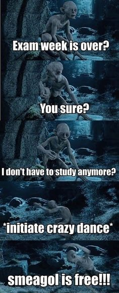 Funny pictures about Finally exam week is over. Oh, and cool pics about Finally exam week is over. Also, Finally exam week is over. Funny Quotes, Funny Memes, Hilarious, Jokes, It's Over Now, Plus Tv, O Hobbit, Hobbit Funny, College Humor