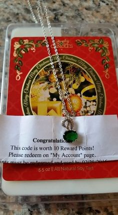 What do you think of this necklace & #RewardsPoints found inside a #NaughtyOrNice #LimitedEdition #Christmas Tart?