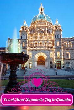 Victoria, BC. Most Romantic City in Canada 4 years running!  http://www.tourismvictoria.com/events/valentines/