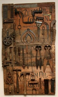 Awesome display of antique tools!