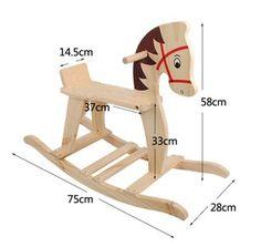 Navidad regalo de la navidad de madera rollaround caballo de juguete de registro grande troyano madera