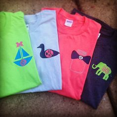 Spring 2014 Monogram Tee Design Personalized Pocket by Tootlebugs, $12.00