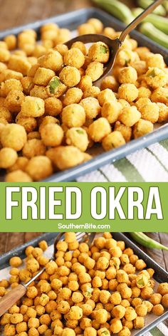 This recipe is my favorite for Southern Fried Okra! My secret ingredient makes it quick, easy, and super flavorful! Okra Recipes, Cooking Recipes, Vegetable Side Dishes, Vegetable Recipes, Side Dish Recipes, Easy Dinner Recipes, Easy Weeknight Meals, Easy Meals