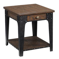 I pinned this Magnussen Lakehurst End Table from the Steampunk Lounge event at Joss and Main!--Tables-Concept Candie Interiors