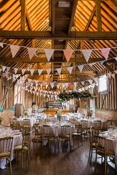 Rustic Barn Wedding In Berkshire With Bunting Wildflowers And Funfair Theme Venue