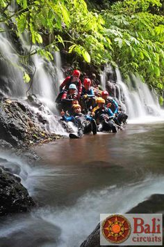#Indonesia #Bali #Canyoning #Travel #Discover #Adventure #Sport #Team #Waterfall #Nature