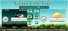 Grass Line Live Theme for Nokia C3-00, X2-01, 205, Asha 200, 201