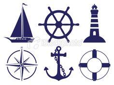Sailing symbols Royalty Free Stock Vector Art Illustration | File #: 20820342