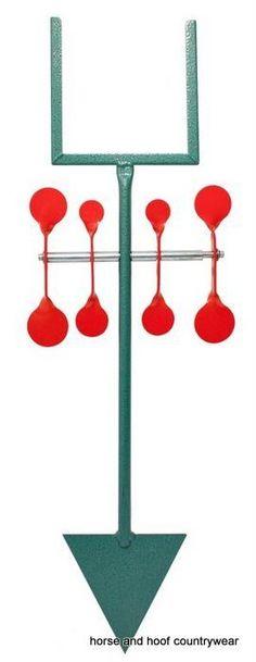 Bisley Red Spinner Target Set Bisley paper target holder on top free spinning…