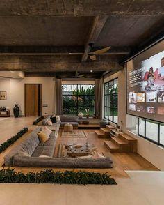 Loft Interior, Home Interior Design, Interior Architecture, Dream Home Design, My Dream Home, Br House, Budget Home Decorating, Loft Design, Cozy Living Rooms