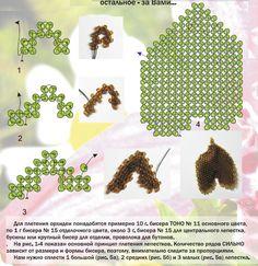 Схема для плетения цветка орхидеи из бисера самостоятельно