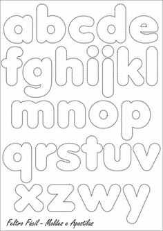 Pattern: Alphabet for felt or fabric (in buru suitcase) Alphabet Templates, Felt Templates, Alphabet Stencils, Motifs D'appliques, Felt Letters, Alphabet And Numbers, Bubble Letters Alphabet, Applique Patterns, String Art