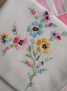 another pinner said:  I have many sets of embroidered pillow cases that my mother embroidered and many I received as wedding gifts I received 47 years ago.  I have not used them in many years, but I cannot part with them knowing that someone (including my mother) made them with love and proud enough of their work to give them to me.