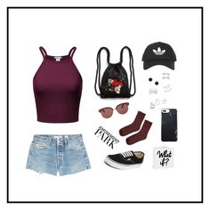 """Go to Amusement Park"" by aibibby on Polyvore featuring RE/DONE, Vans, Topshop, Monki, Oliver Peoples, Marc Jacobs, By Boe, Sterling Essentials, GUESS and Effy Jewelry"