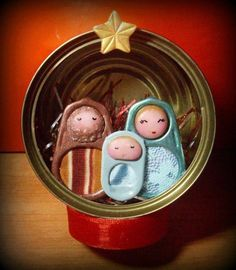 Diy christmas decorations for outside nativity 25 ideas Nativity Ornaments, Nativity Crafts, Christmas Nativity, Christmas Crafts For Kids, Homemade Christmas, Christmas Art, Christmas Projects, Holiday Crafts, Christmas Holidays