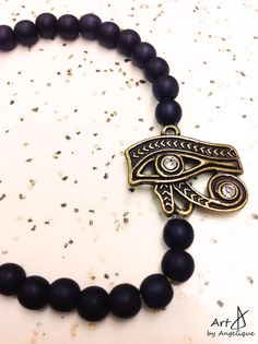 Egyptian Eye of Horus Charm Handmade Custom by ArtByAngelique