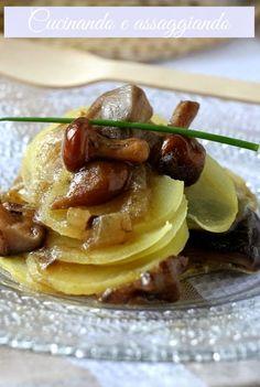 Cucinando e assaggiando...: Millefoglie di patate con funghi.... anche per il menu di Natale