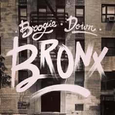 Boogie down bronx type typography graphic design hand lettering vintage brush city