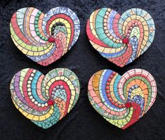 Valentine Heart Mosaic Decor Ideas - Crafts to Make and Sell - Valentines Day Ideas
