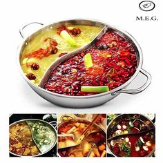 Mongolian Hot Pot Soup Pot Shabu Shabu Hotpot Dish Cooking Pot Pots and Pans Cooking Utensils Stock Pot Japanese Food Stainless Steel // Hot Pot, Pasta Pot, Stainless Steel Pot, Shabu Shabu, Boggle, Herd, Cooking Tools, Cooking Utensils, Cooking Kale