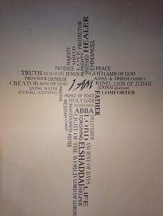 Nombres de Dios yo soy vinilo diseño por por DeBellaBoutique