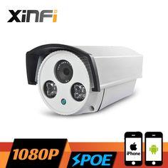 XINFI HD 1080P Surveillance POE Camera 2.0 MP Outdoor Waterproof network CCTV IP camera P2P ONVIF 2.0 PC&Phone remote view